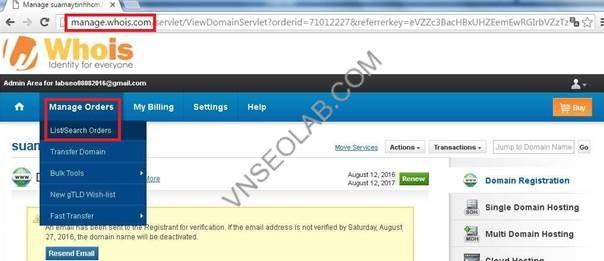 hướng dẫn cấu hình tên miền cho blogger - vnseolab.com