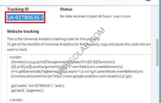 cai dat code google analytics