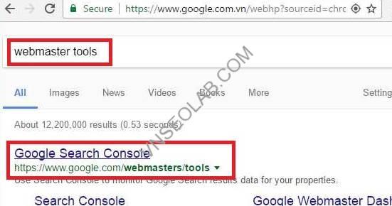 cai dat va su dung webmaster tools