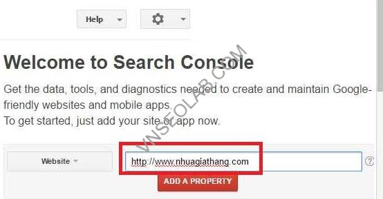 cau hinh webmaster tools