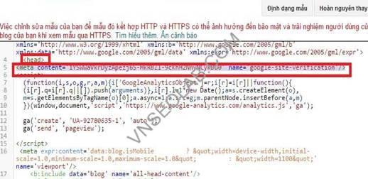 huong dan su dung webmaster tools voi blogspot